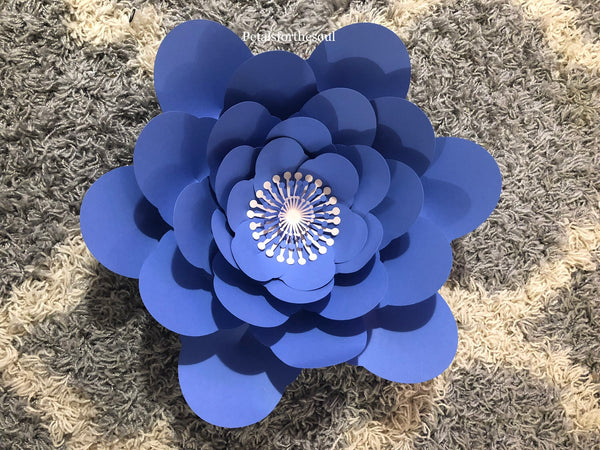 Hard Copy Flower Template 6 for DIY Paper Flowers & Flower Templates