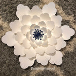 Hard Copy Flower Template 12 for DIY Paper Flowers & Flower Templates