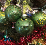 Inspired Grinch Christmas Ornaments - Set of 4