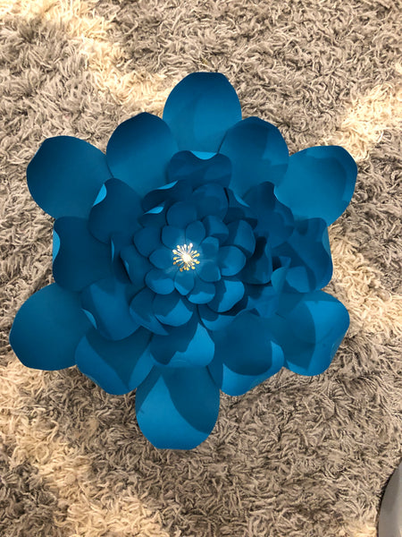 Hard Copy Flower Template 9 for DIY Paper Flowers & Flower Templates