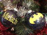 Inspired Batman Christmas Ornaments - Set of 4