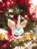 Unicorn Christmas Ornaments - Set of 4