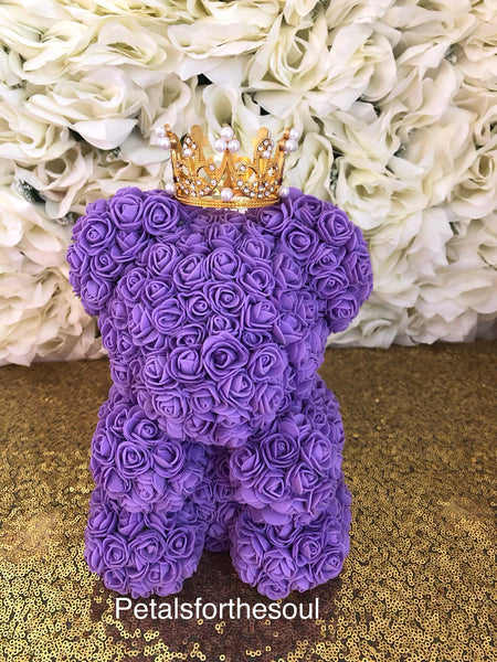 Forever Rose Bear | Teddy Bear Made of Roses | Engagement Gift | Birthday Gift | Get Well Gift | Newborn Gift