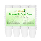 White Paper Cups - 16 Ounce - 600 Count - FirstChoice EcoNaturals