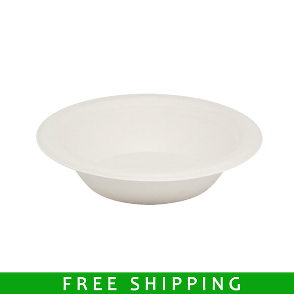 Compostable Bagasse Paper Bowl - 12 Ounce - 100 Counts - FirstChoice EcoNaturals