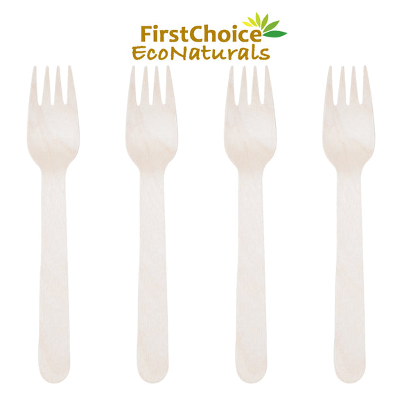 Wooden Forks - 100 Piece - FirstChoice EcoNaturals
