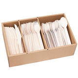 Wooden Cutlery 300 Piece Set: 100 Forks, 100 Spoons, 100 Knives - FirstChoice EcoNaturals