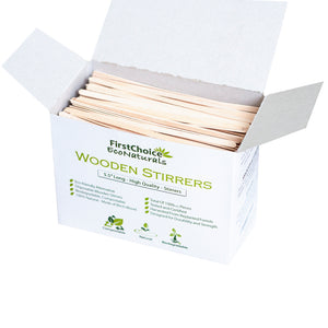 "10 Box - 5.5"" Length Wooden Coffee Stirrers - 10000 Piece Total Piece - FirstChoice EcoNaturals"