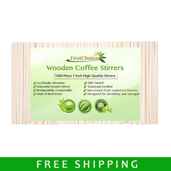 Wooden Coffee Stirrers - 1000 Piece - 7