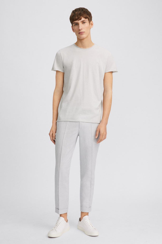 TERRY CROPPED LINEN SLACK