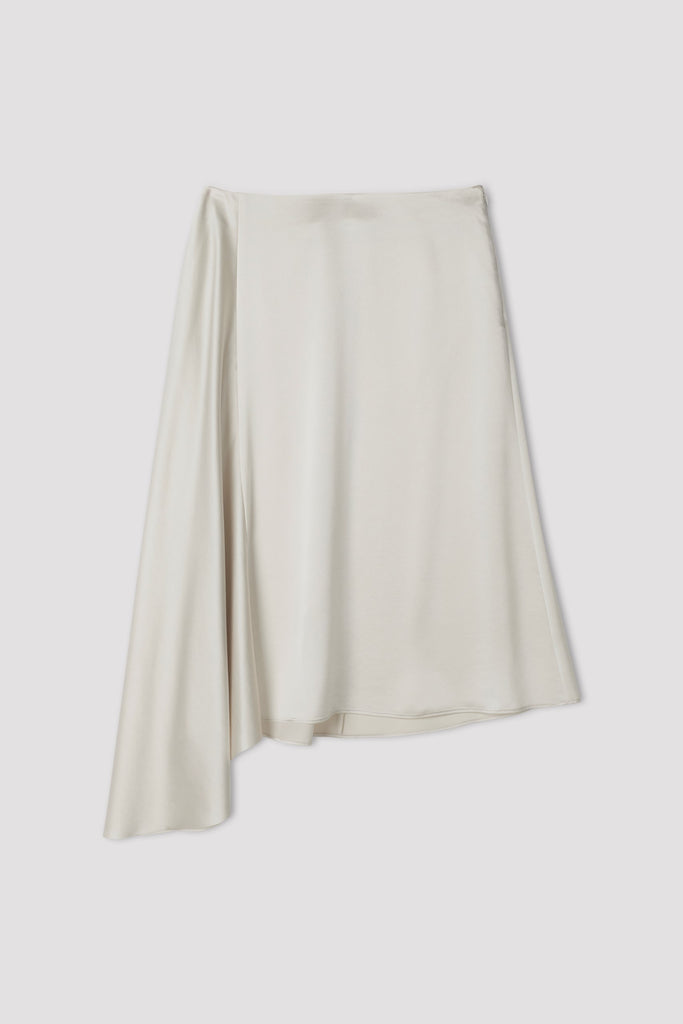 DRAPEY SATIN SKIRT - HoneyMustard