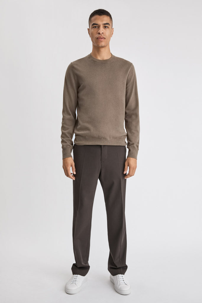 M. COTTON MERINO SWEATER - HoneyMustard