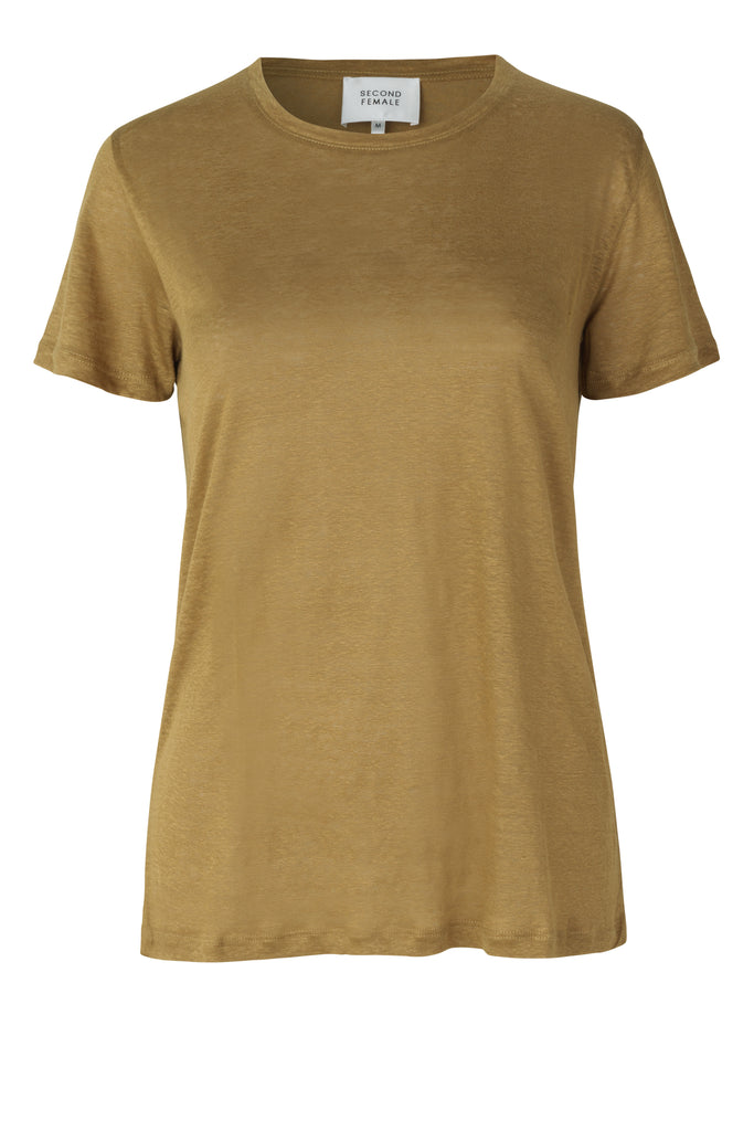 PEONY NEW O-NECK TEE - HoneyMustard