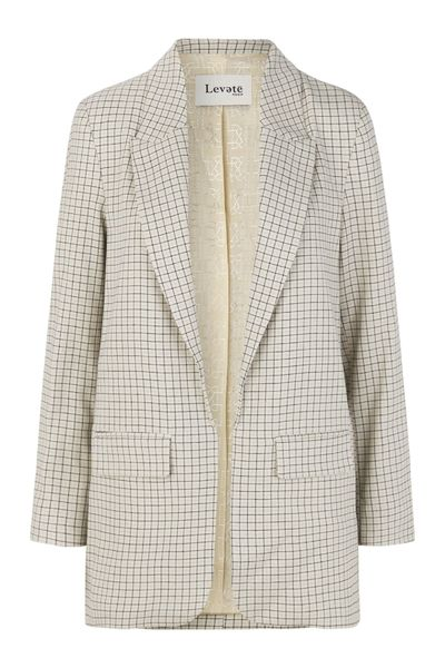 LR-ISOLDE CHECKED BLAZER - HoneyMustard