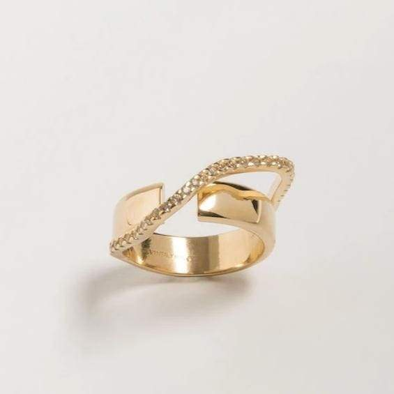 Cornelia Webb Distorted Round Double Ring S - HoneyMustard