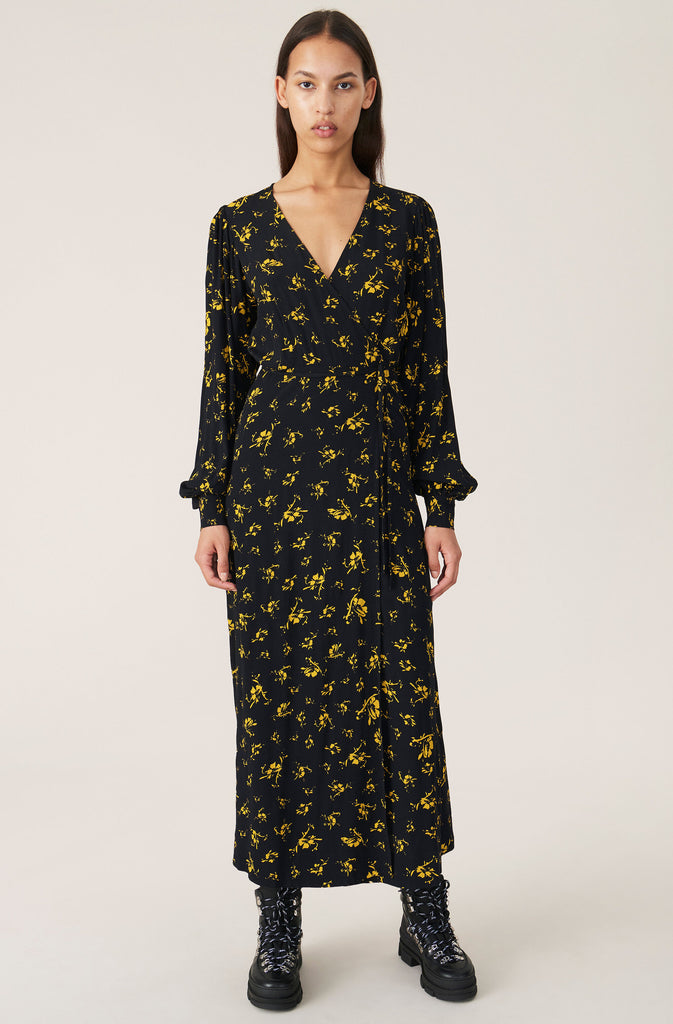 PRINTED CREPE F4162 - HoneyMustard