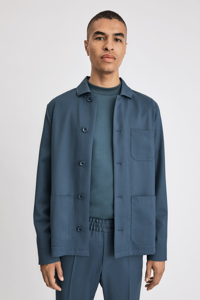LOUIS GABARDINE JACKET - HoneyMustard