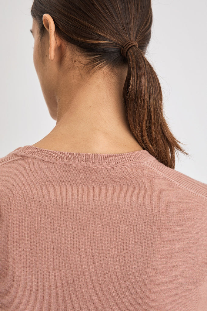 MERINO R-NECK SWEATER - HoneyMustard