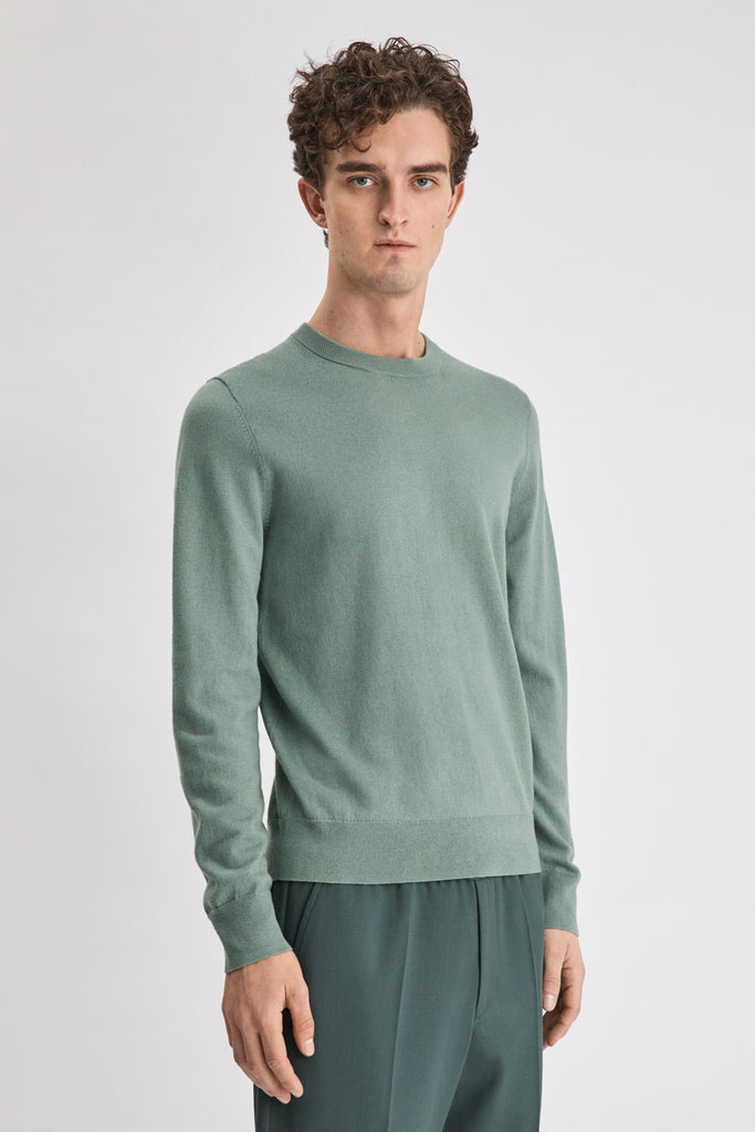 COTTON MERINO SWEATER - HoneyMustard