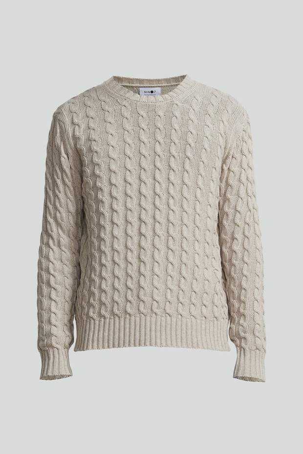 FABIAN 6371 COTTON SWEATER - HoneyMustard