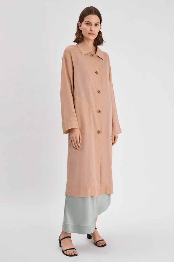 GEORGIA COAT DRESS - HoneyMustard