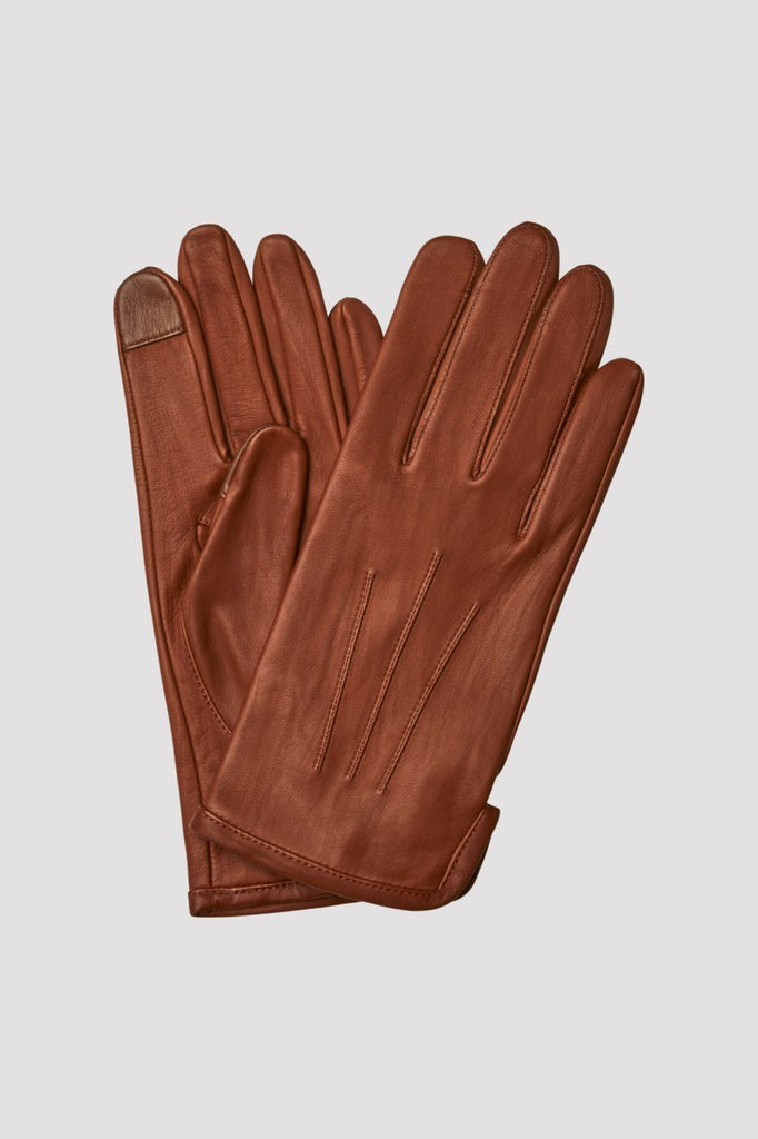 UNLINED LEATHER GLOVES - HoneyMustard
