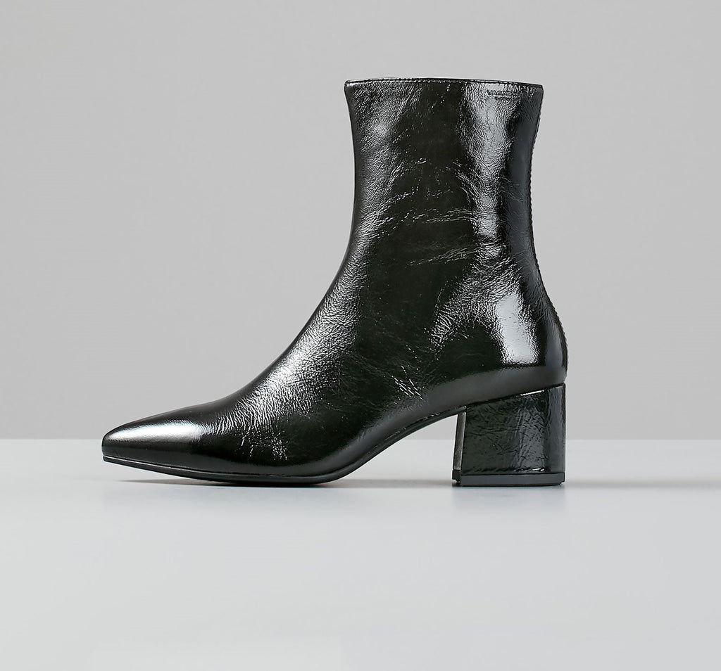 MYA BLACK PATENT LEATHER BOOTS 4619-060-20 - HoneyMustard