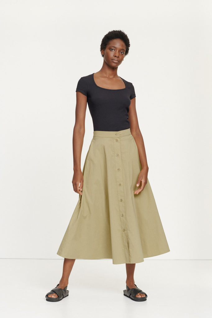 BARBARA LONG SKIRT 10783 - HoneyMustard