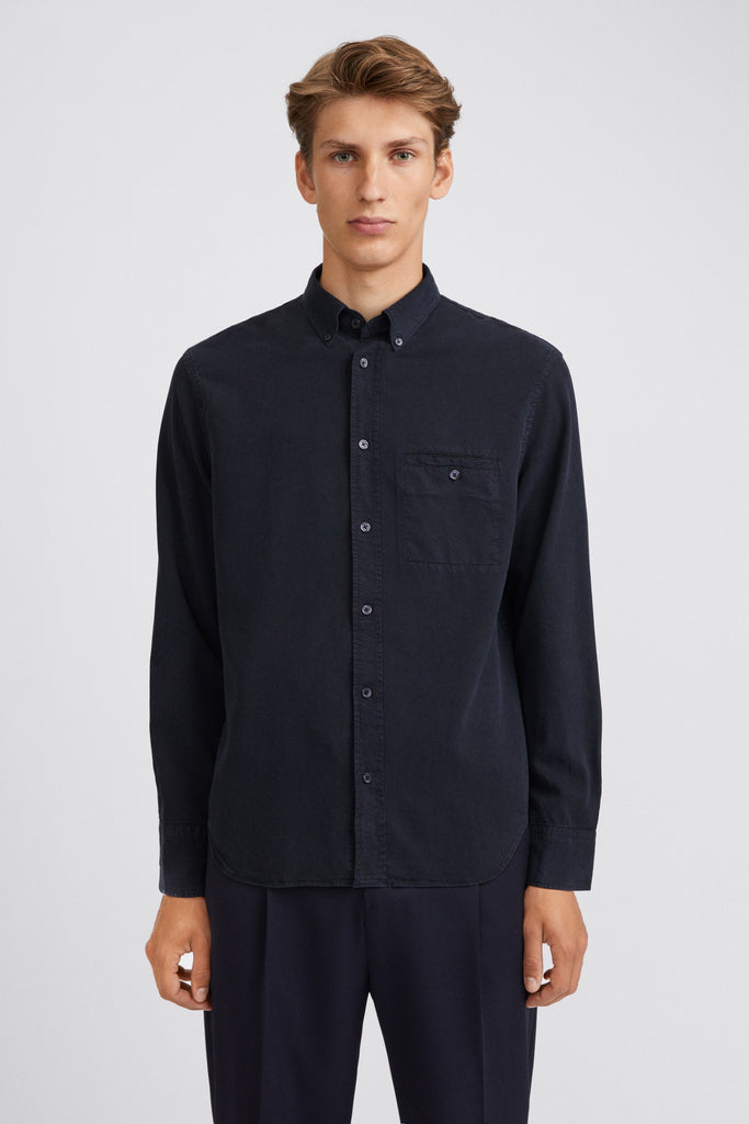 M. ZACHARY TENCEL SHIRT - HoneyMustard