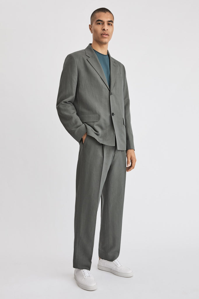 HUGH LINEN BLAZER - HoneyMustard