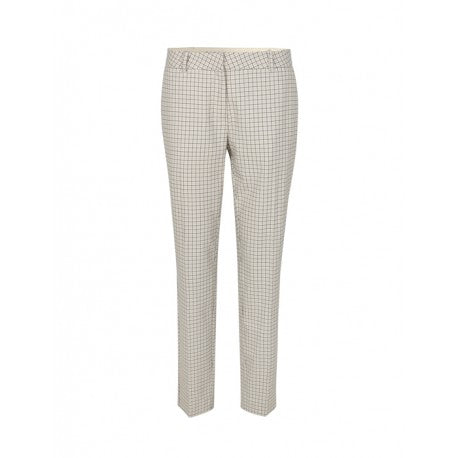 LR-ISOLDE CHECKED TROUSERS - HoneyMustard