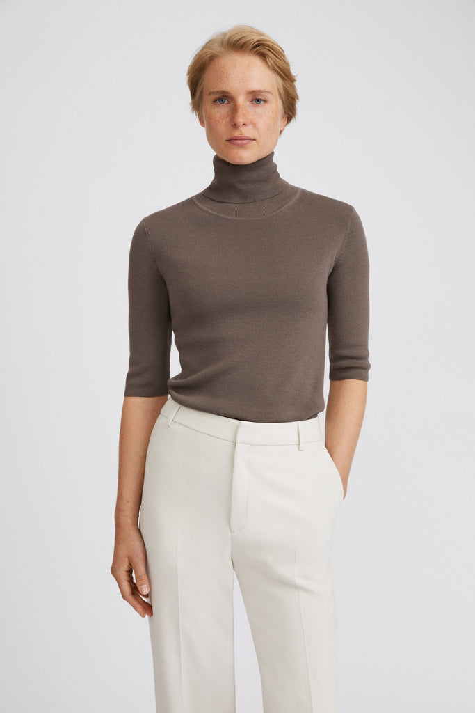 MERINO ELBOW SLEEVE TOP - HoneyMustard