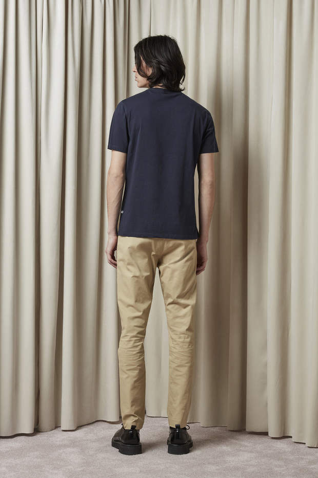 Pima Plain Tee 3208 Navy - HoneyMustard
