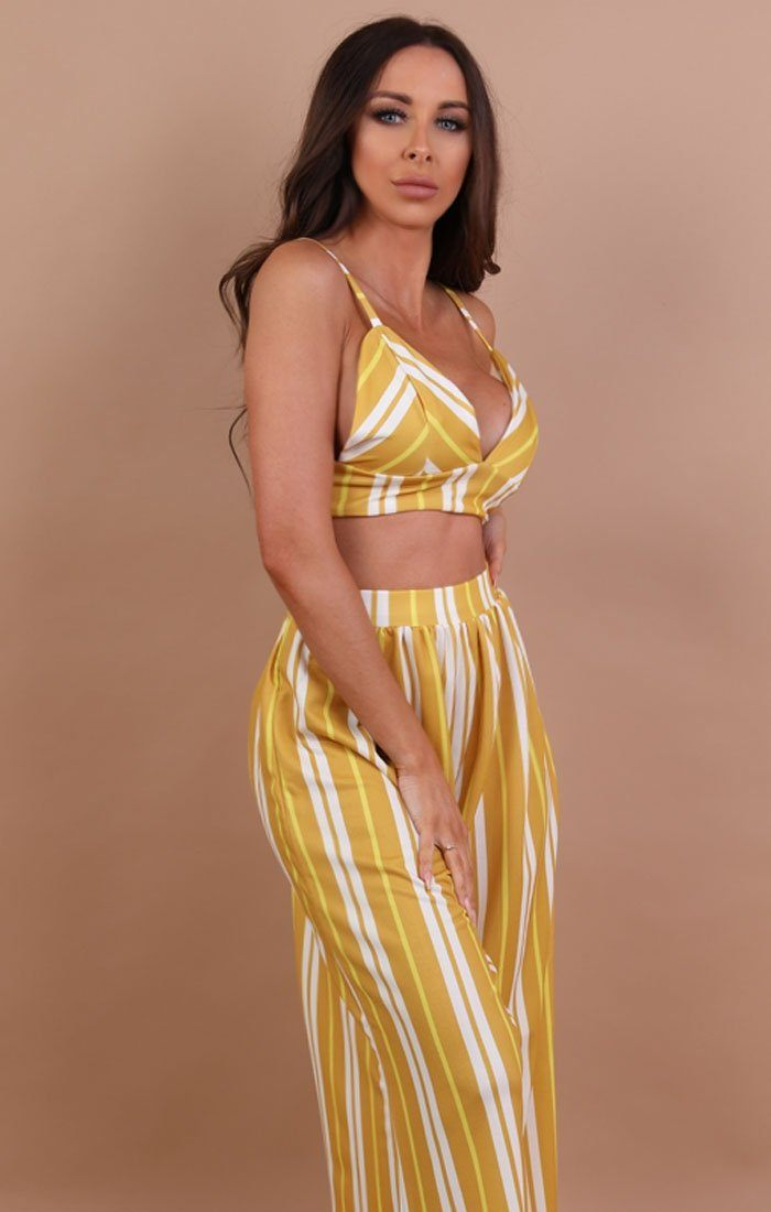 Mustard Striped Co-ord Set - Lara