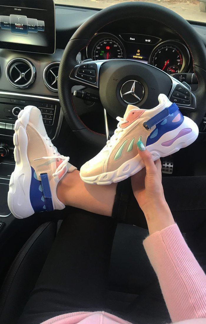 Pink and Blue Chunky Trainers - Ava