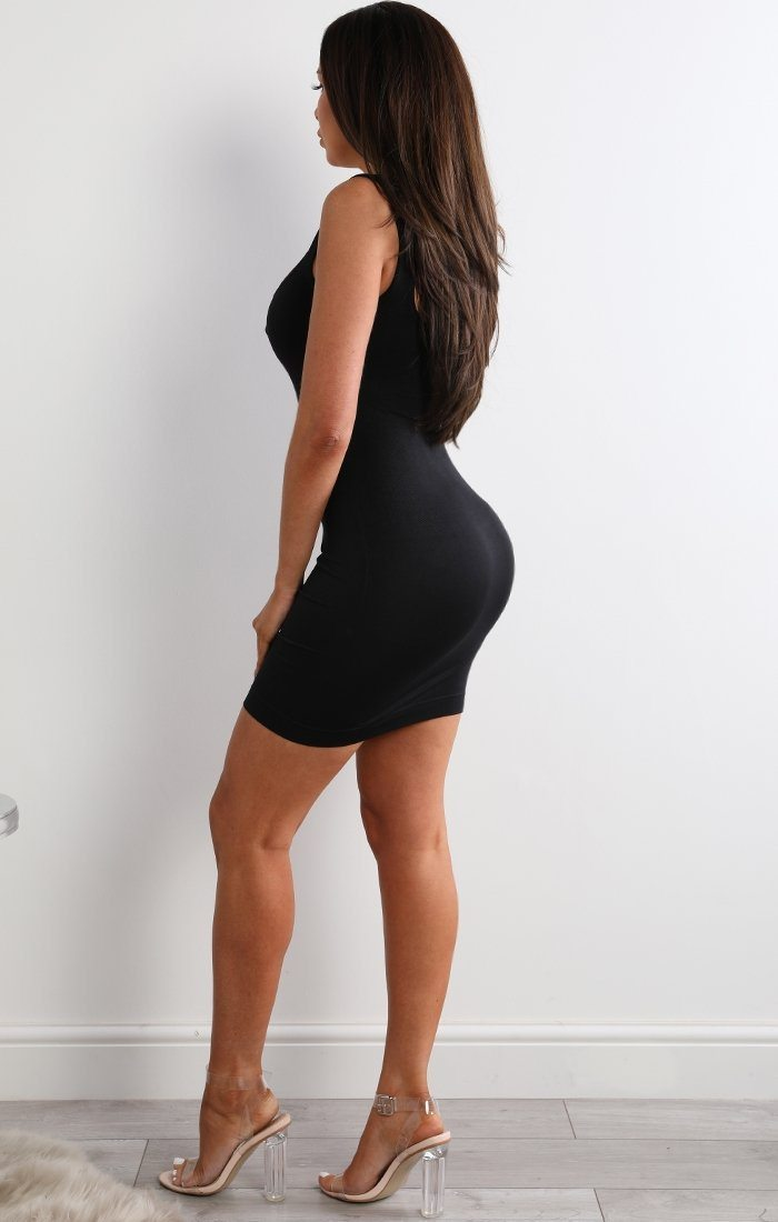 Luxury Black Firm Control Bodycon Dress - Beverly
