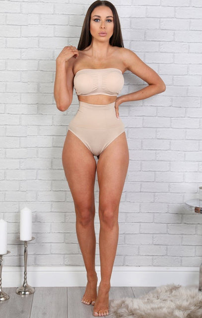 Nude Seamless Firm Control Briefs