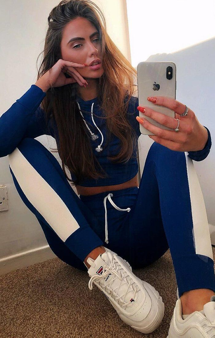 Blue With White Stripe Lounge Wear Set - Lexi