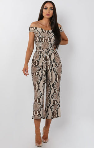 Animal Print Jumpsuits