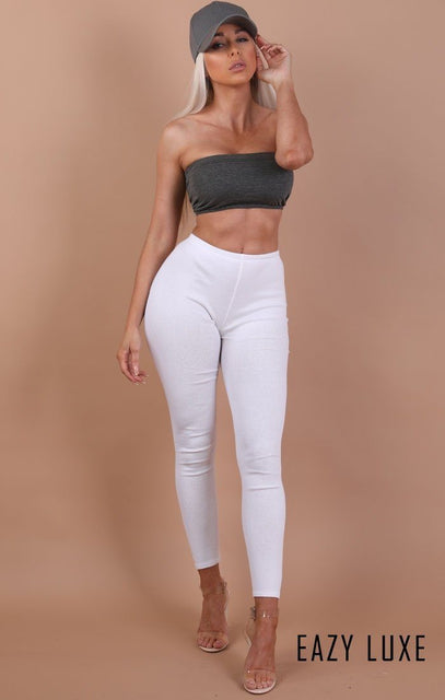 Charcoal Basic Bandeau Crop Top – Kylie