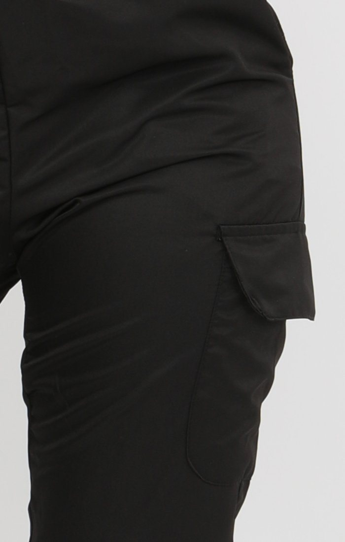 Black Cargo Trousers - Mina