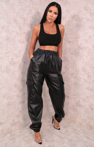 Black Cuffed Trousers