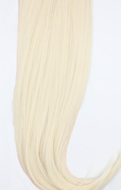 "Bleach Blonde 24"" Synthetic Straight Hair Extensions Clip In Piece - Auora"