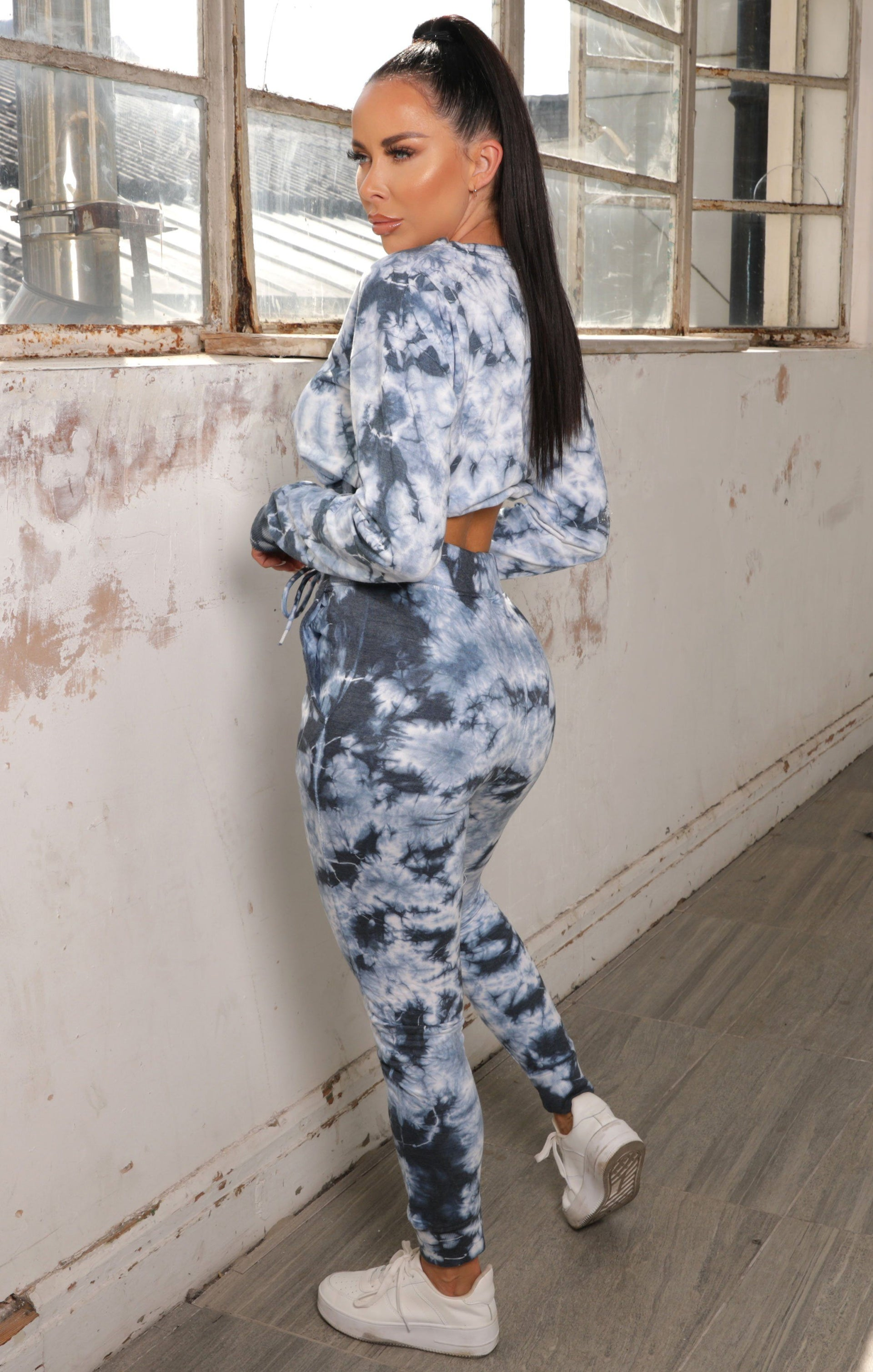 Blue Tie Dye Sweatshirt Loungewear Set - Chelsey NO PRICE DONT PUT LIVE
