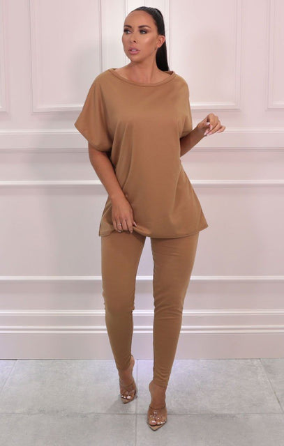 Camel Oversize Leggings Loungewear Set - Justine