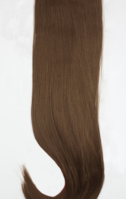 "Chestnut 24"" Synthetic Straight Hair Extensions Clip In Piece - Auora"
