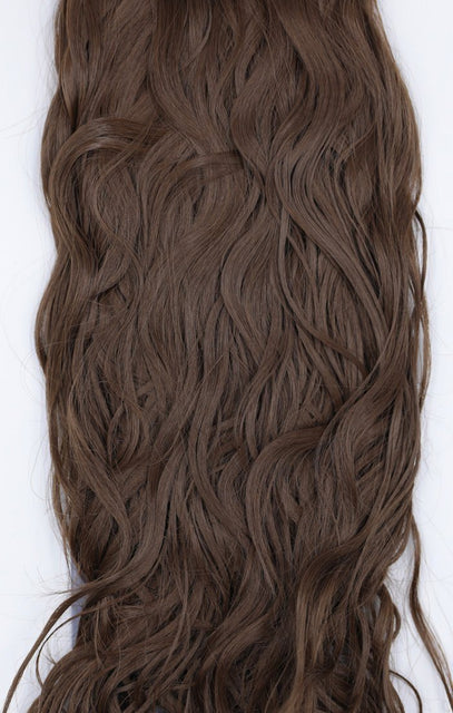 "Chestnut Thick 20"" Synthetic Clip In Wavy Hair Extensions Set - Loren"