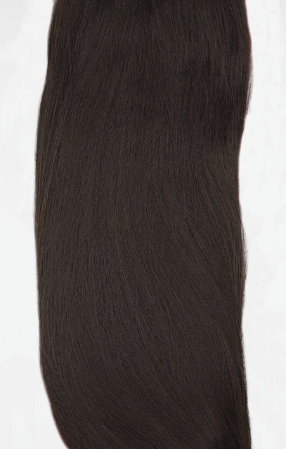 "Coffee Brown 20"" Synthetic Straight Hair Extensions Clip In Piece - Auora"