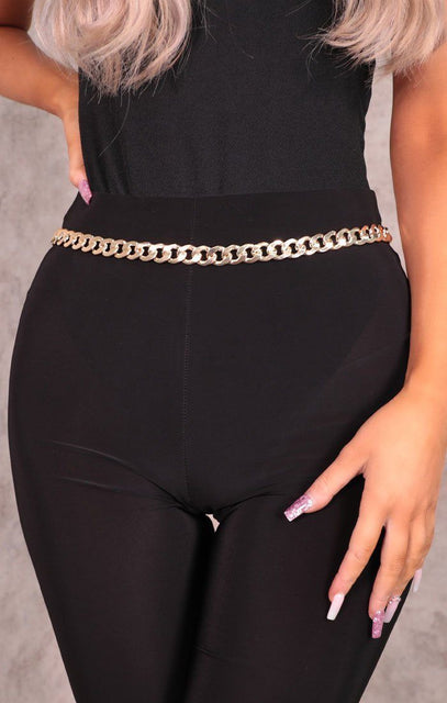 Gold Chunky Link Chain Belt - Edith