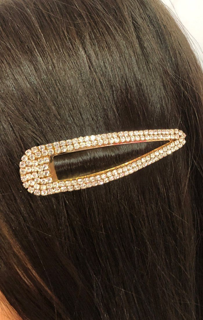 Gold Diamante Large Clip - Joelle